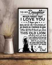 POSTER - TO MY DAUGHTER - LIONS - THIS OLD 16x24 Poster lifestyle-poster-3