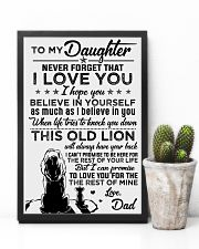 POSTER - TO MY DAUGHTER - LIONS - THIS OLD 16x24 Poster lifestyle-poster-8