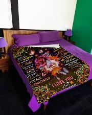 """To My Mom - Autumn - Fleece Blanket Large Fleece Blanket - 60"""" x 80"""" aos-coral-fleece-blanket-60x80-lifestyle-front-01"""