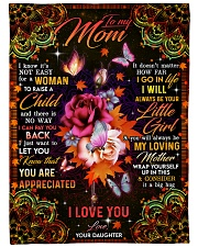 "To My Mom - Autumn - Fleece Blanket Large Fleece Blanket - 60"" x 80"" front"