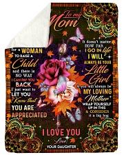To My Mom - Autumn - Fleece Blanket Sherpa Fleece Blanket tile