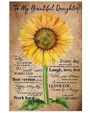 TO MY BEAUTIFUL DAUGHTER 16x24 Poster front
