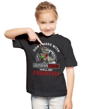 Grandpa and Grandma to Grandson - T-Shirt Youth T-Shirt lifestyle-youth-tshirt-front-2