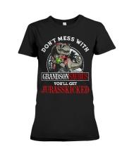 Grandpa and Grandma to Grandson - T-Shirt Premium Fit Ladies Tee thumbnail