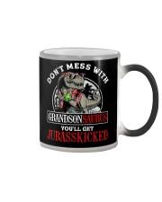 Grandpa and Grandma to Grandson - T-Shirt Color Changing Mug thumbnail