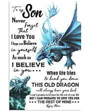 MOM TO SON - AQUA DRAGON - NEVER FORGET 16x24 Poster front