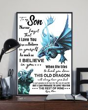 MOM TO SON - AQUA DRAGON - NEVER FORGET 16x24 Poster lifestyle-poster-2