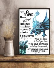 MOM TO SON - AQUA DRAGON - NEVER FORGET 16x24 Poster lifestyle-poster-3