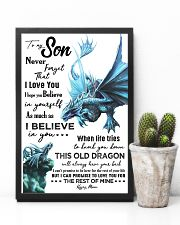 MOM TO SON - AQUA DRAGON - NEVER FORGET 16x24 Poster lifestyle-poster-8