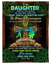 "Daughter - Cross - Wherever Your Journey In Life Small Fleece Blanket - 30"" x 40"" front"