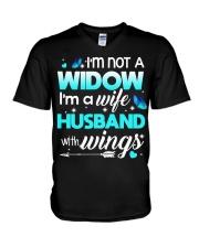 I'm not a widow V-Neck T-Shirt thumbnail
