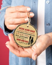 Christmas - Mom And Dad - The Best Gift  Circle ornament - single (porcelain) aos-circle-ornament-single-porcelain-lifestyles-01