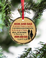 Christmas - Mom And Dad - The Best Gift  Circle ornament - single (porcelain) aos-circle-ornament-single-porcelain-lifestyles-07