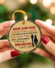 Christmas - Mom And Dad - The Best Gift  Circle ornament - single (porcelain) aos-circle-ornament-single-porcelain-lifestyles-08