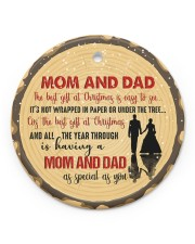 Christmas - Mom And Dad - The Best Gift  Circle ornament - single (porcelain) front