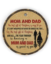 Christmas - Mom And Dad - The Best Gift  Circle ornament - single (wood) thumbnail
