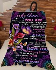 """To My Mom - Fleece Blanket Large Fleece Blanket - 60"""" x 80"""" aos-coral-fleece-blanket-60x80-lifestyle-front-04"""