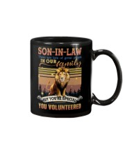 Son-in-law - Lion - You Volunteered - Poster Mug front