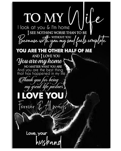 TO MY WIFE - CAT COUPLE - I LOVE YOU