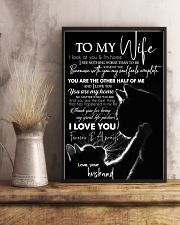 TO MY WIFE - CAT COUPLE - I LOVE YOU 16x24 Poster lifestyle-poster-3