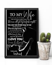 TO MY WIFE - CAT COUPLE - I LOVE YOU 16x24 Poster lifestyle-poster-8