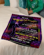 """To My Daughter - I Asked God For An Angel  Small Fleece Blanket - 30"""" x 40"""" aos-coral-fleece-blanket-30x40-lifestyle-front-07"""
