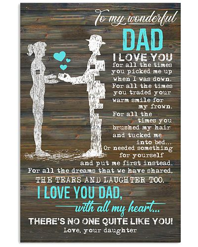POSTER - TO MY DAD - I LOVE YOU