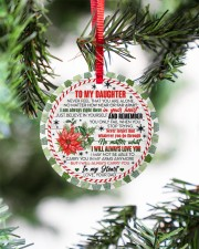 To My Daughter - never Forget That You Are Alone  Circle ornament - single (porcelain) aos-circle-ornament-single-porcelain-lifestyles-07