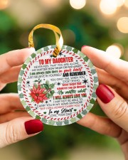 To My Daughter - never Forget That You Are Alone  Circle ornament - single (porcelain) aos-circle-ornament-single-porcelain-lifestyles-08