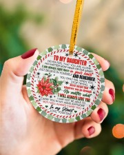 To My Daughter - never Forget That You Are Alone  Circle ornament - single (porcelain) aos-circle-ornament-single-porcelain-lifestyles-09