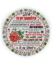 To My Daughter - never Forget That You Are Alone  Circle ornament - single (wood) thumbnail