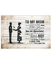 To My Mom - I Love You Horizontal Poster tile