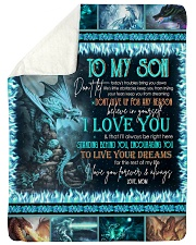 "MOM TO SON Large Sherpa Fleece Blanket - 60"" x 80"" thumbnail"