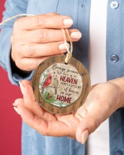 Christmas - Because Someone We Love Is In Heaven Circle ornament - single (porcelain) aos-circle-ornament-single-porcelain-lifestyles-01
