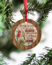 Christmas - Because Someone We Love Is In Heaven Circle ornament - single (porcelain) aos-circle-ornament-single-porcelain-lifestyles-07