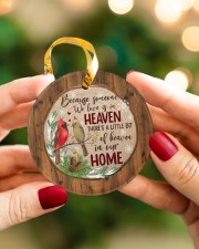 Christmas - Because Someone We Love Is In Heaven Circle ornament - single (porcelain) aos-circle-ornament-single-porcelain-lifestyles-08