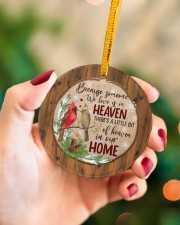 Christmas - Because Someone We Love Is In Heaven Circle ornament - single (porcelain) aos-circle-ornament-single-porcelain-lifestyles-09