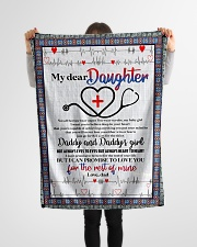 "Daughter - Nurse - To My Daughter - Heroes Small Fleece Blanket - 30"" x 40"" aos-coral-fleece-blanket-30x40-lifestyle-front-14"