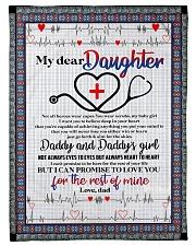 """Daughter - Nurse - To My Daughter - Heroes Small Fleece Blanket - 30"""" x 40"""" front"""