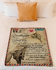 """Grandma to Granddaughter - I Love You - Poster Small Fleece Blanket - 30"""" x 40"""" aos-coral-fleece-blanket-30x40-lifestyle-front-04"""