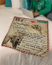 """Grandma to Granddaughter - I Love You - Poster Small Fleece Blanket - 30"""" x 40"""" aos-coral-fleece-blanket-30x40-lifestyle-front-07"""