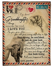 """Grandma to Granddaughter - I Love You - Poster Small Fleece Blanket - 30"""" x 40"""" front"""