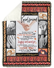 "TO MY GIRLFRIEND Large Sherpa Fleece Blanket - 60"" x 80"" thumbnail"