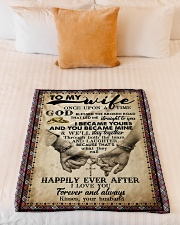 """To Wife - Cross - Once Upon A Time God Blessed  Small Fleece Blanket - 30"""" x 40"""" aos-coral-fleece-blanket-30x40-lifestyle-front-04"""