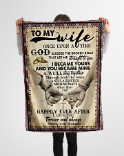 """To Wife - Cross - Once Upon A Time God Blessed  Small Fleece Blanket - 30"""" x 40"""" aos-coral-fleece-blanket-30x40-lifestyle-front-14"""