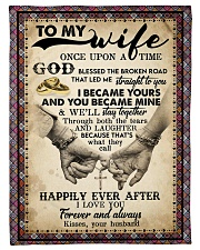 """To Wife - Cross - Once Upon A Time God Blessed  Small Fleece Blanket - 30"""" x 40"""" front"""
