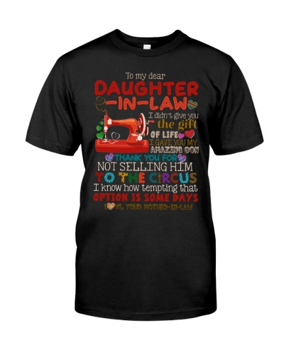 TO MY DAUGHTER-IN-LAW - QUILTING - CIRCUS