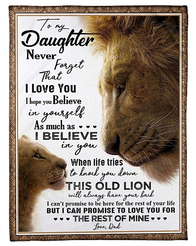 BLANKET - TO MY DAUGHTER - LION - I HOPE