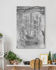 To My Daughter - Wherever Your Journey I Life 20x30 Gallery Wrapped Canvas Prints aos-canvas-pgw-20x30-lifestyle-front-03