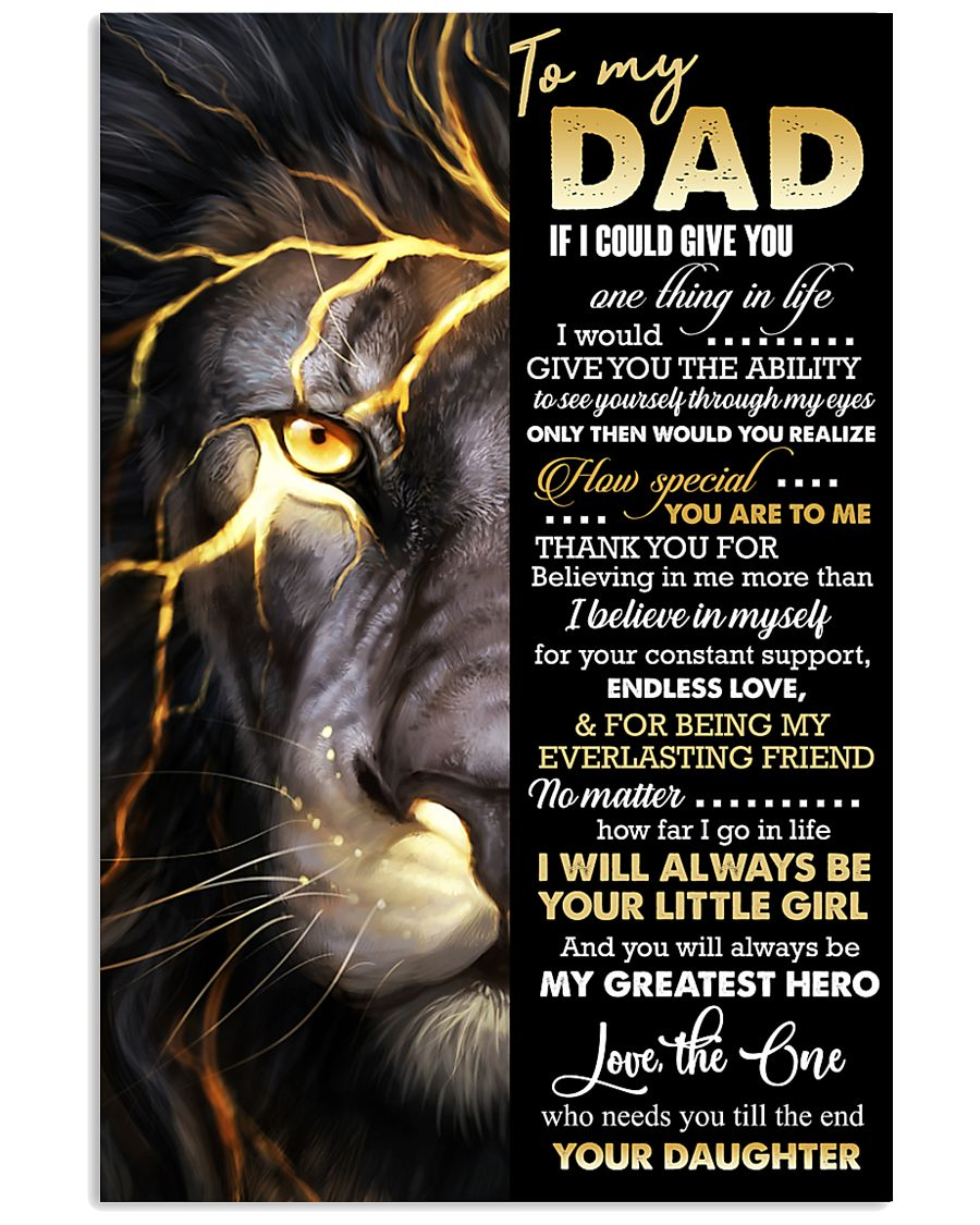 POSTER - TO MY DAD - THANK YOU 16x24 Poster
